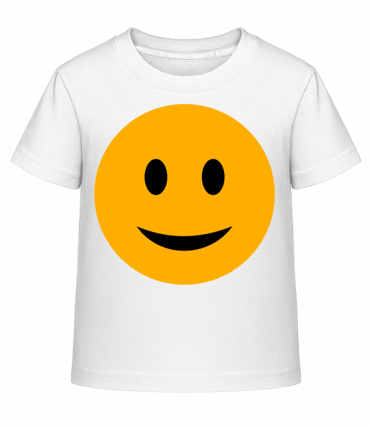 Happy Smiley - Kid's Shirtinator T-Shirt - White - Vorn