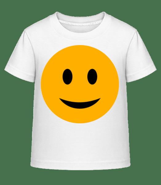 Happy Smiley - Kid's Shirtinator T-Shirt - White - Vorn