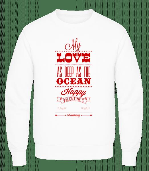 As Deep As The Ocean - Men's Sweatshirt AWDis - White - Vorn