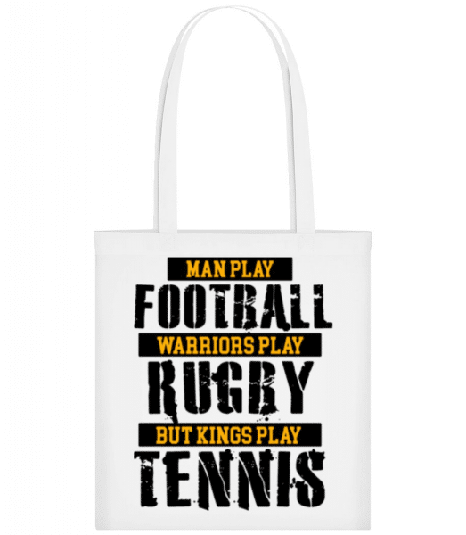 Kings Play Tennis - Tote Bag - White - Front