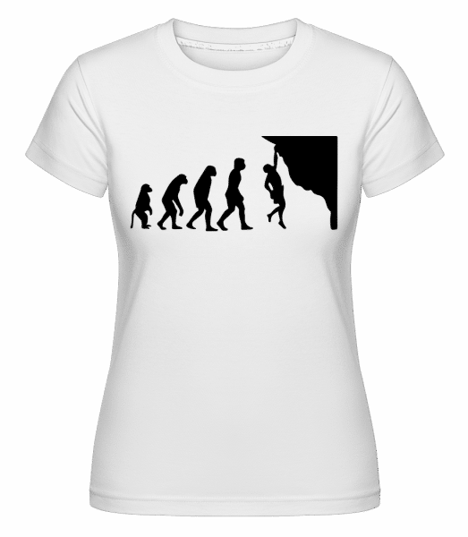 lezenie Evolution -  Shirtinator tričko pre dámy - Biela - Predné