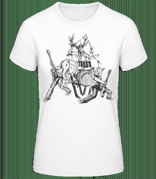 Wild Band - Women's Basic T-Shirt - White - Vorn