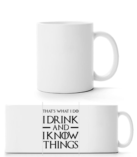 I Drink And I Know Things - Panorama Mug - White - Front