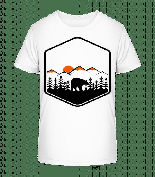 Bear Mountains Icon - Kid's Premium Bio T-Shirt - White - Front