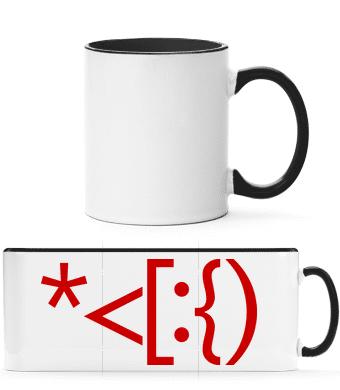 Brackets Santa - Two-toned Mug - White - Vorn