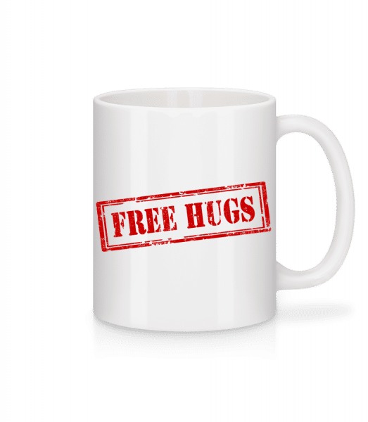 Free Hugs Sign - Mug - White - Vorn