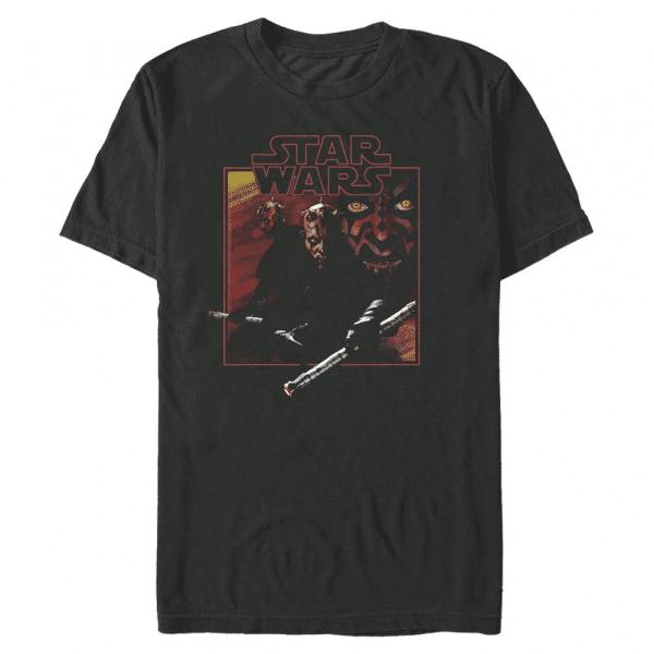 Vintage Maul Darth Maul - Star Wars - Men's T-Shirt - Black - Front