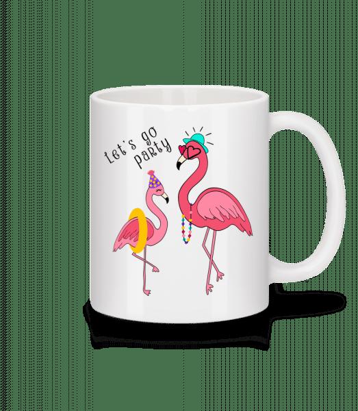Party Flamingos - Keramický hrnek - Bílá - Napřed