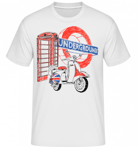 London Underground -  Shirtinator Men's T-Shirt - White - Vorn