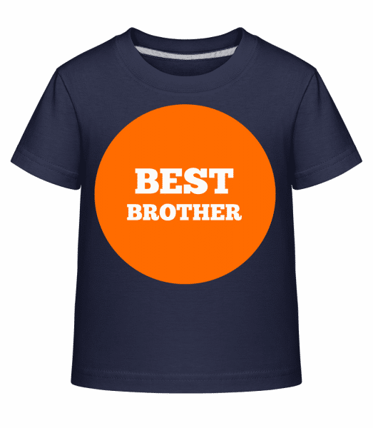 Best Brother - Kid's Shirtinator T-Shirt - Navy - Vorn