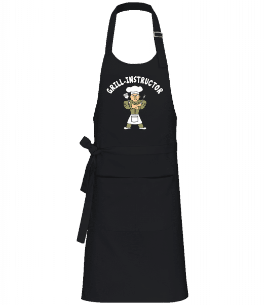 Grill Instructor - Profi Kochschürze - Schwarz - Vorn