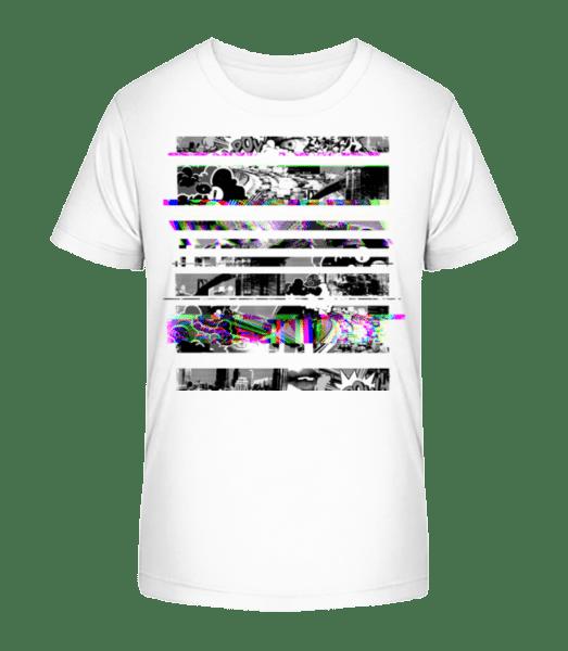 Broken Image - Kid's Premium Bio T-Shirt - White - Vorn