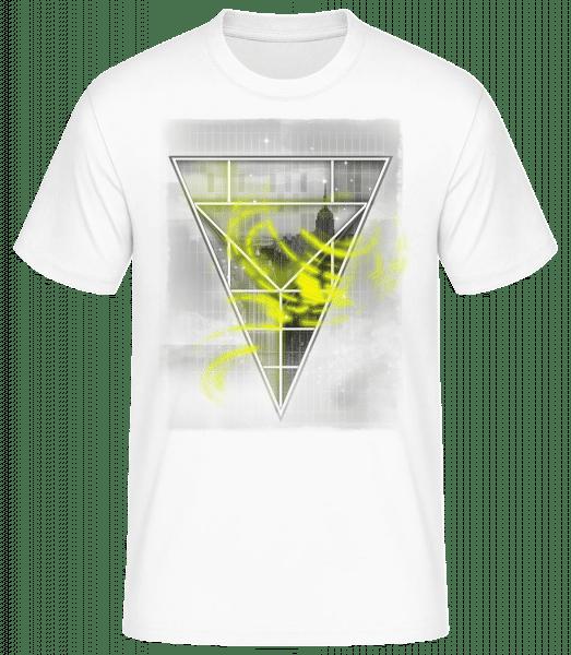 Skyline Triangle - Men's Basic T-Shirt - White - Front