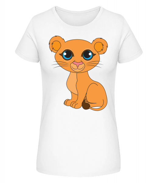 dieťa lev - Dámske premium bio tričko Stanley Stella - Biela - Predné