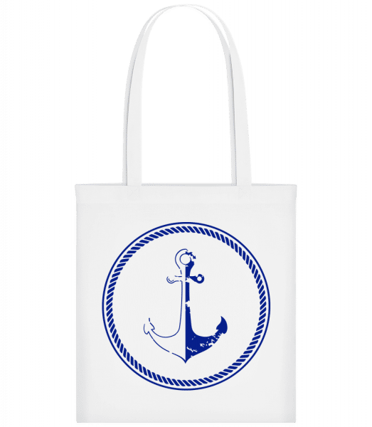 Anchor Symbol - Carrier Bag - White - Vorn
