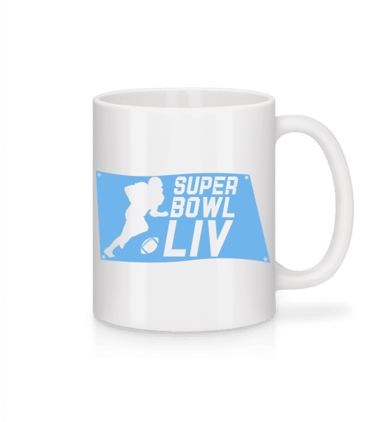 Super Bowl flag - Mug - White - Vorn