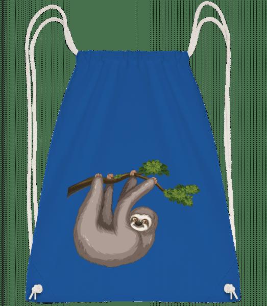 Sloth Hanging On A Branch - Gym bag - Royal blue - Vorn