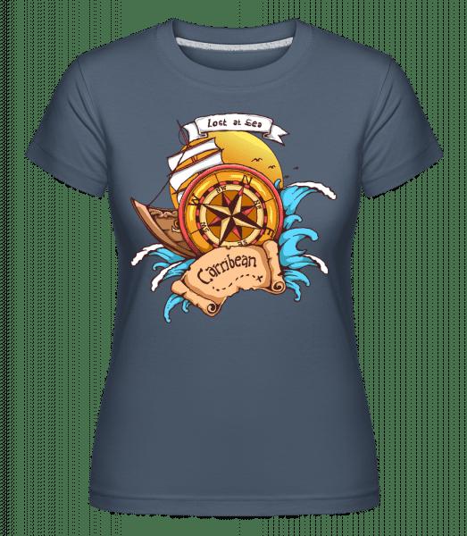 Lost At Sea -  Shirtinator Women's T-Shirt - Denim - Vorn