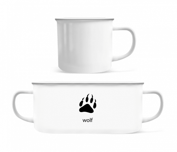 Wolf Paw - Enamel-cup - White - Vorn