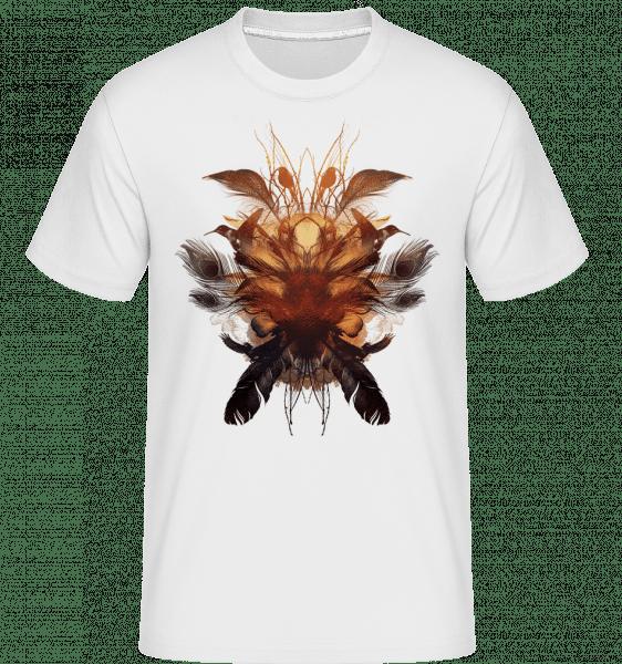 Peří Ptačí hnízdo -  Shirtinator tričko pro pány - Bílá - Napřed