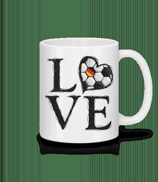 Football Love Germany - Mug - White - Vorn
