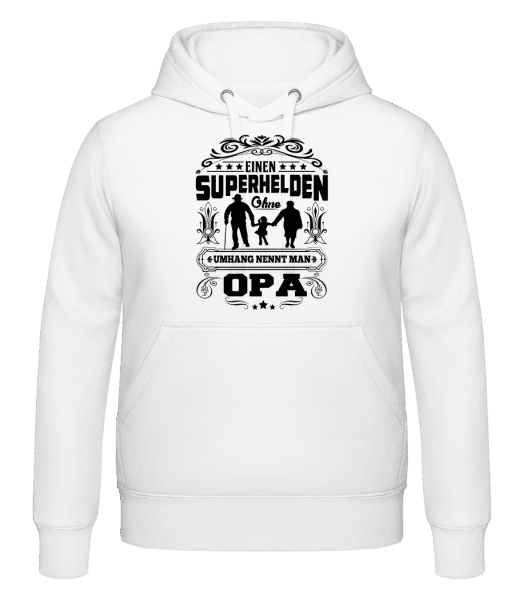Opa Superheld Ohne Umhang - Kapuzenhoodie - Weiß - Vorn