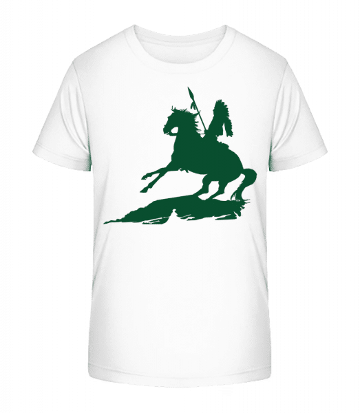 Knight Silhouette Green - T-shirt bio Premium Enfant - Blanc - Devant