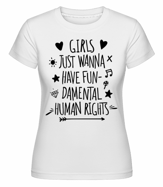 Damental Human Rights - Shirtinator Frauen T-Shirt - Weiß - Vorn