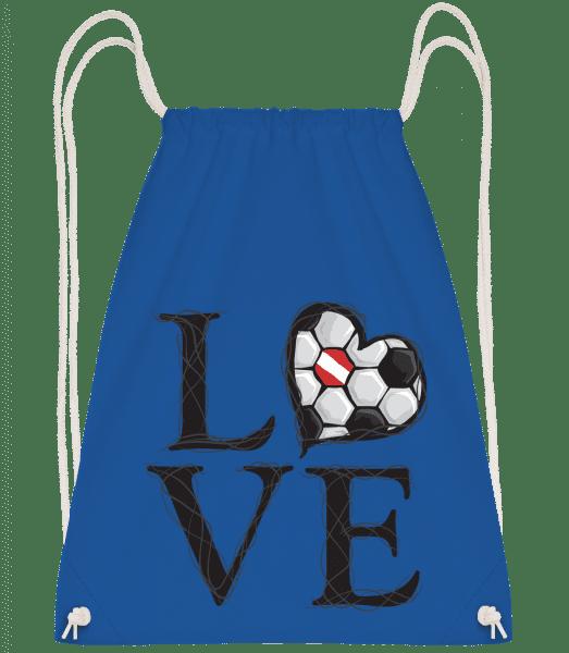Football Love Austria - Drawstring Backpack - Royal blue - Vorn