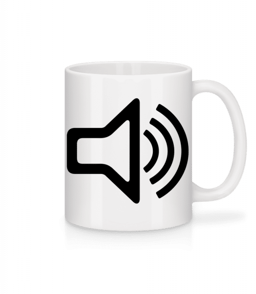 Speaker icon - Mug - White - Front