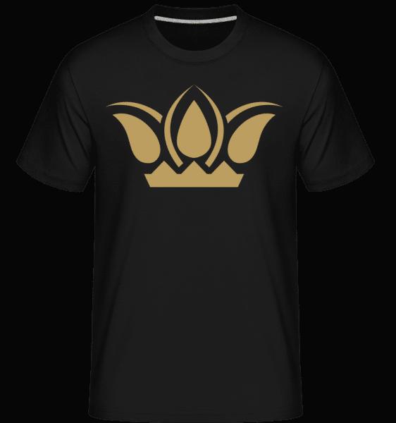 Krone Zeichen - Shirtinator Männer T-Shirt - Schwarz - Vorn