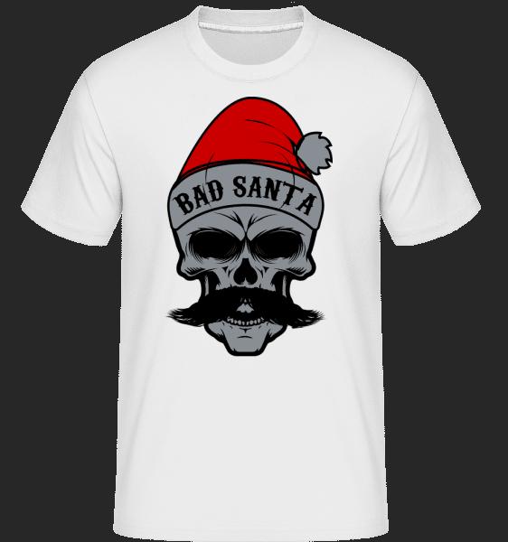 Bad Santa Skull -  Shirtinator Men's T-Shirt - White - Vorn