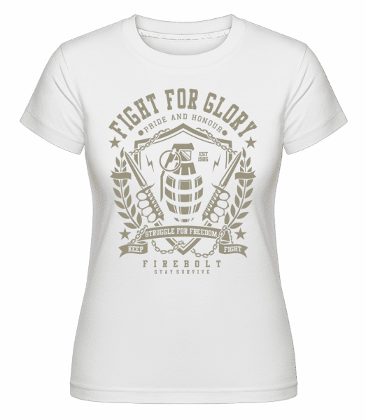 Grenade -  Shirtinator Women's T-Shirt - White - Vorn