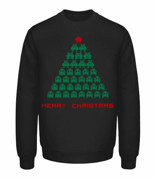 Merry Christmas Pixel Monster - Unisex Sweatshirt - Black - Vorn