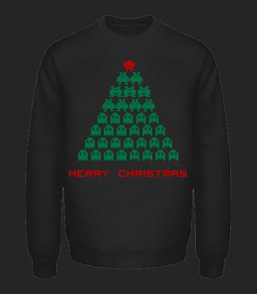Merry Christmas Pixel Monster - Unisex Sweatshirt - Black - Front