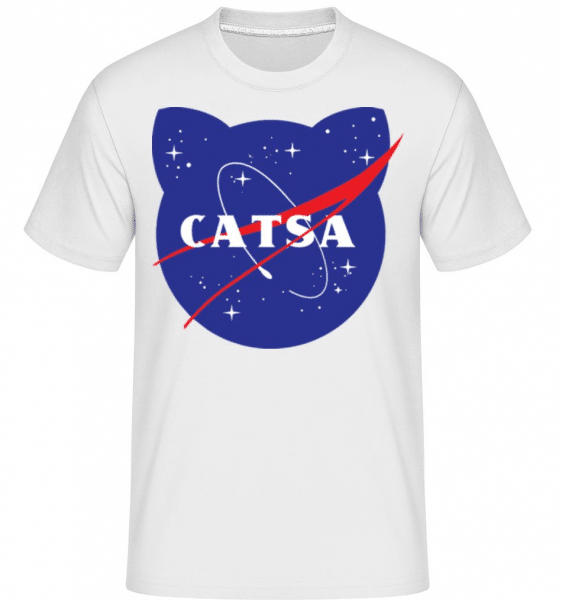 Catsa -  Shirtinator Men's T-Shirt - White - Front