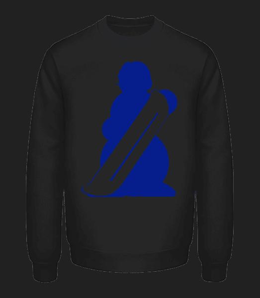 Snowboard Snowman - Unisex Sweatshirt - Black - Front