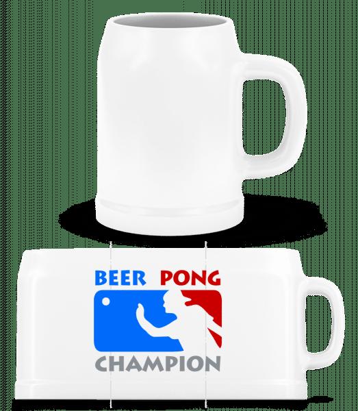 Beer Pong Champion - Beer Mug - White - Vorn