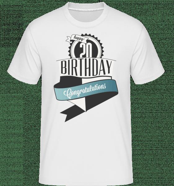 20 Birthday Congrats -  Shirtinator Men's T-Shirt - White - Front