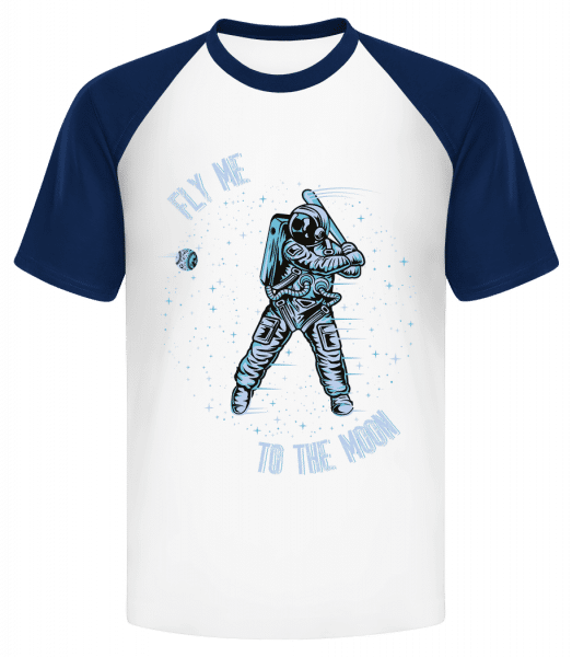 Fly Me To The Moon - Men's Baseball T-Shirt - White - Vorn