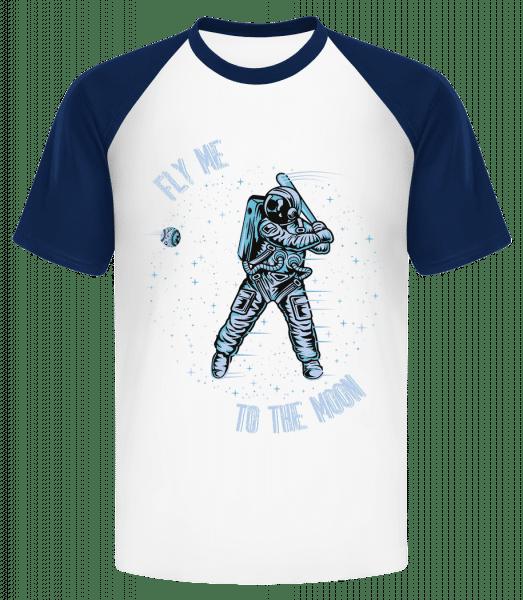 Fly Me To The Moon - Männer Baseball T-Shirt - Marine - Vorn