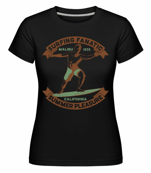 Surf Beach Summer Pleasure -  Shirtinator Women's T-Shirt - Black - Vorn