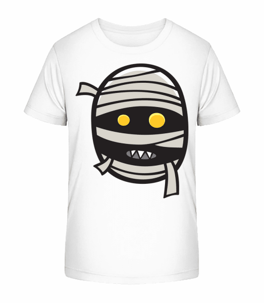 Cartoon Mummy - Kid's Premium Bio T-Shirt - White - Front