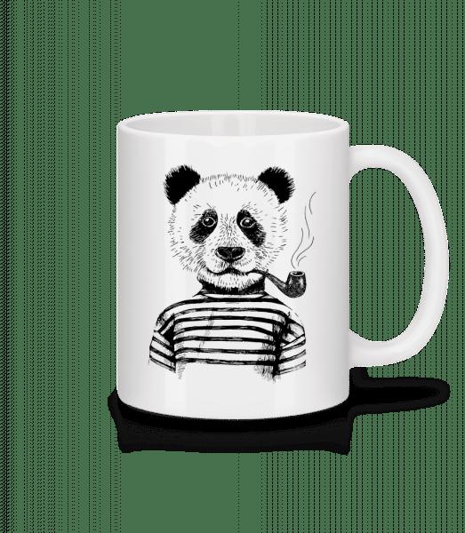 Hipster Panda - Mug - White - Vorn