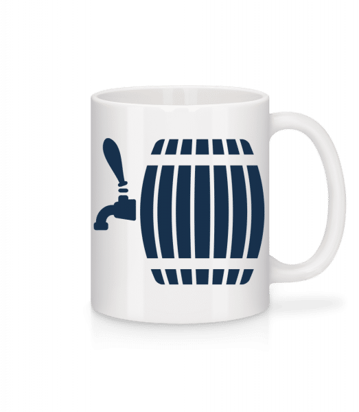 Beer Barrel - Mug - White - Front