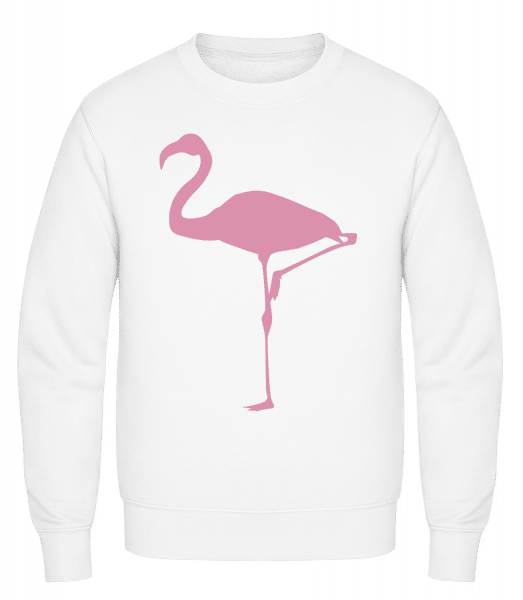 Flamingo - Classic Set-In Sweatshirt - White - Vorn