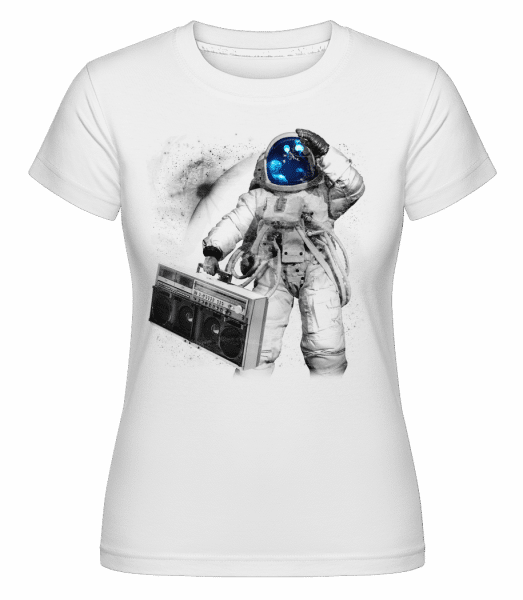 Ghettoblaster Astronaut -  Shirtinator Women's T-Shirt - White - Vorn