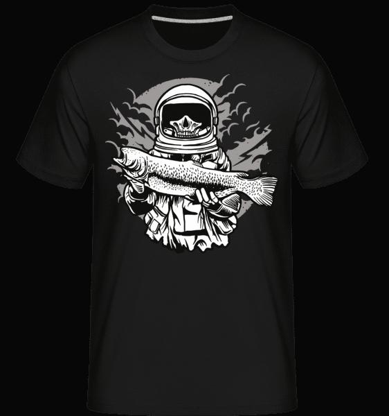 Astronaut Fishing -  Shirtinator Men's T-Shirt - Black - Vorn