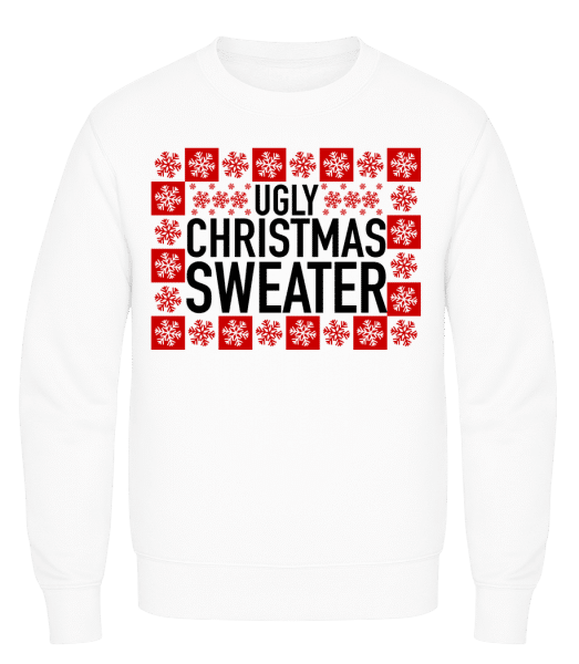 Ugly Christmas Sweater - Männer Pullover AWDis - Weiß - Vorn