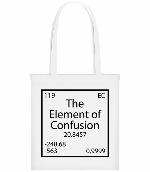 The Element Of Confusion - Stoffbeutel - Weiß - Vorn